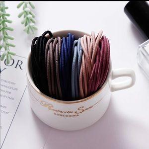 Accessories - 100pcs Nylon ponytail hair tie